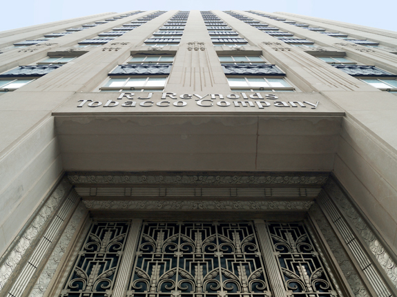Historic details that adorn the former headquarters of the RJ Reynolds Tobacco Company will be preserved during the building's adaptive reuse