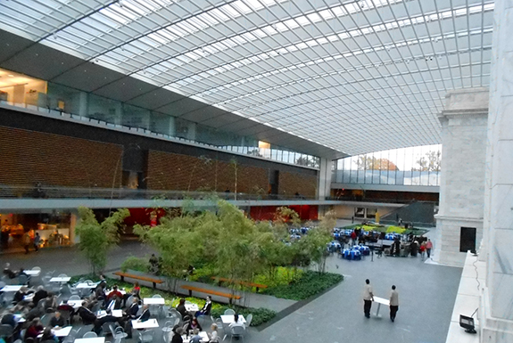 The atrium is a stunning place to rest your feet after visiting the museum galleries.